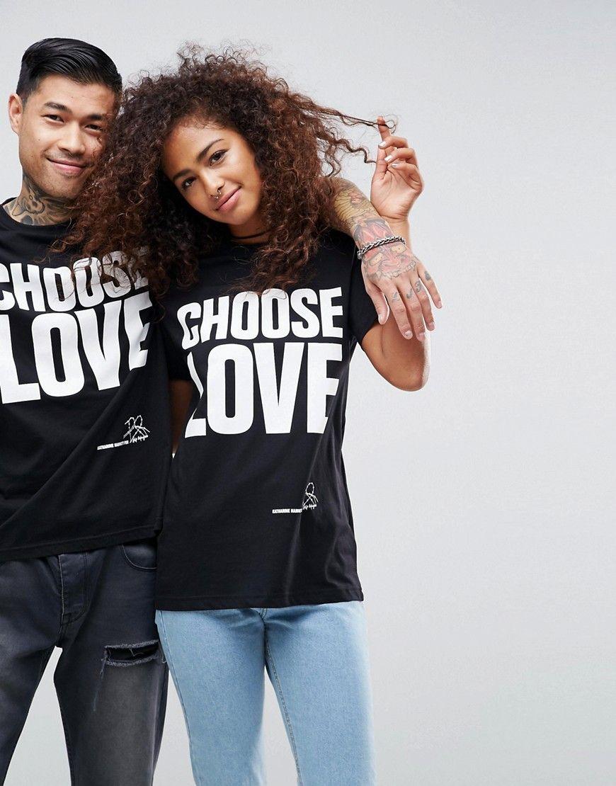 3e5628005 Help Refugees Choose Love t-shirt in black organic cotton | Fashion ...