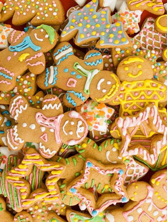 Gingerbread Christmas Party / 3456 #christmasparty #christmas #party #backdrop