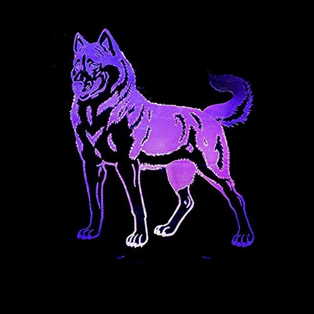 3d Lampe Dobermann Pin 3d Licht Wolf Hund Bunte Touch Led 3d Visuelles Licht Usb 3d Nachtlicht Beleuchtung Innenbeleuchtung Wolf Hunde Nachtlicht Dobermann