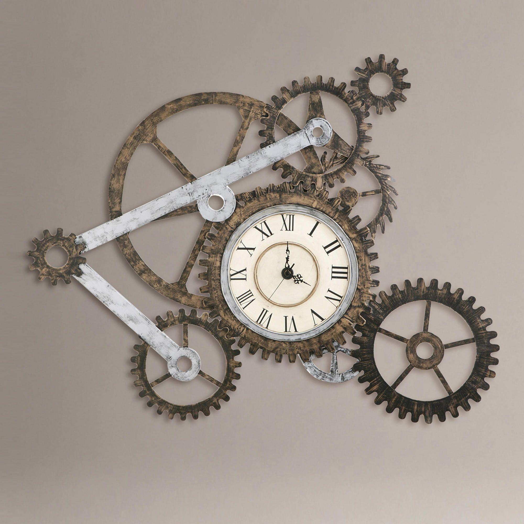 Gear Wall Art With Clock Gear Wall Art With Clock | World Market $113