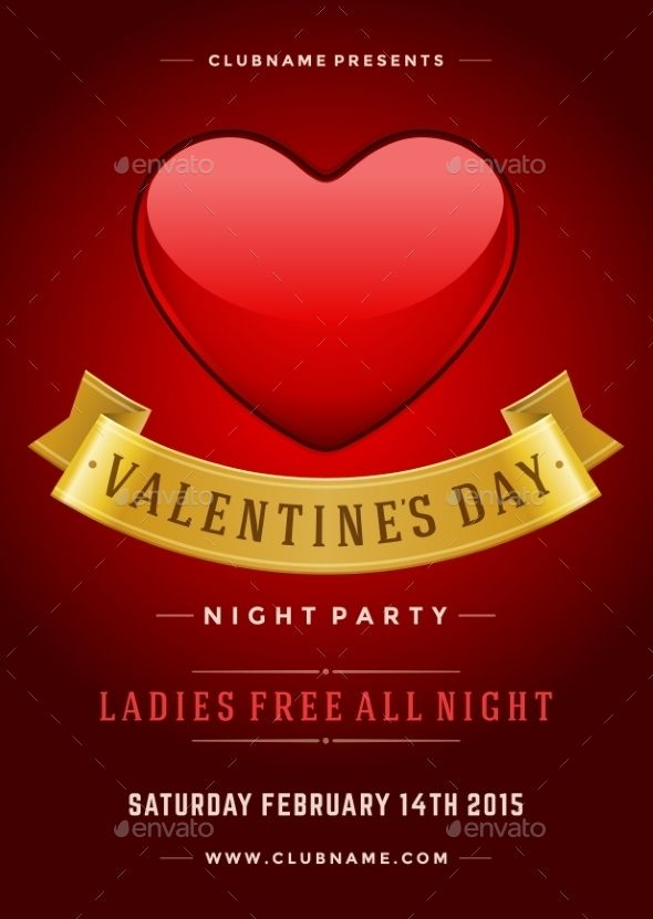 Happy Valentines Day Party Poster Design Template Party Poster Happy Valentines Day Valentines Day Party