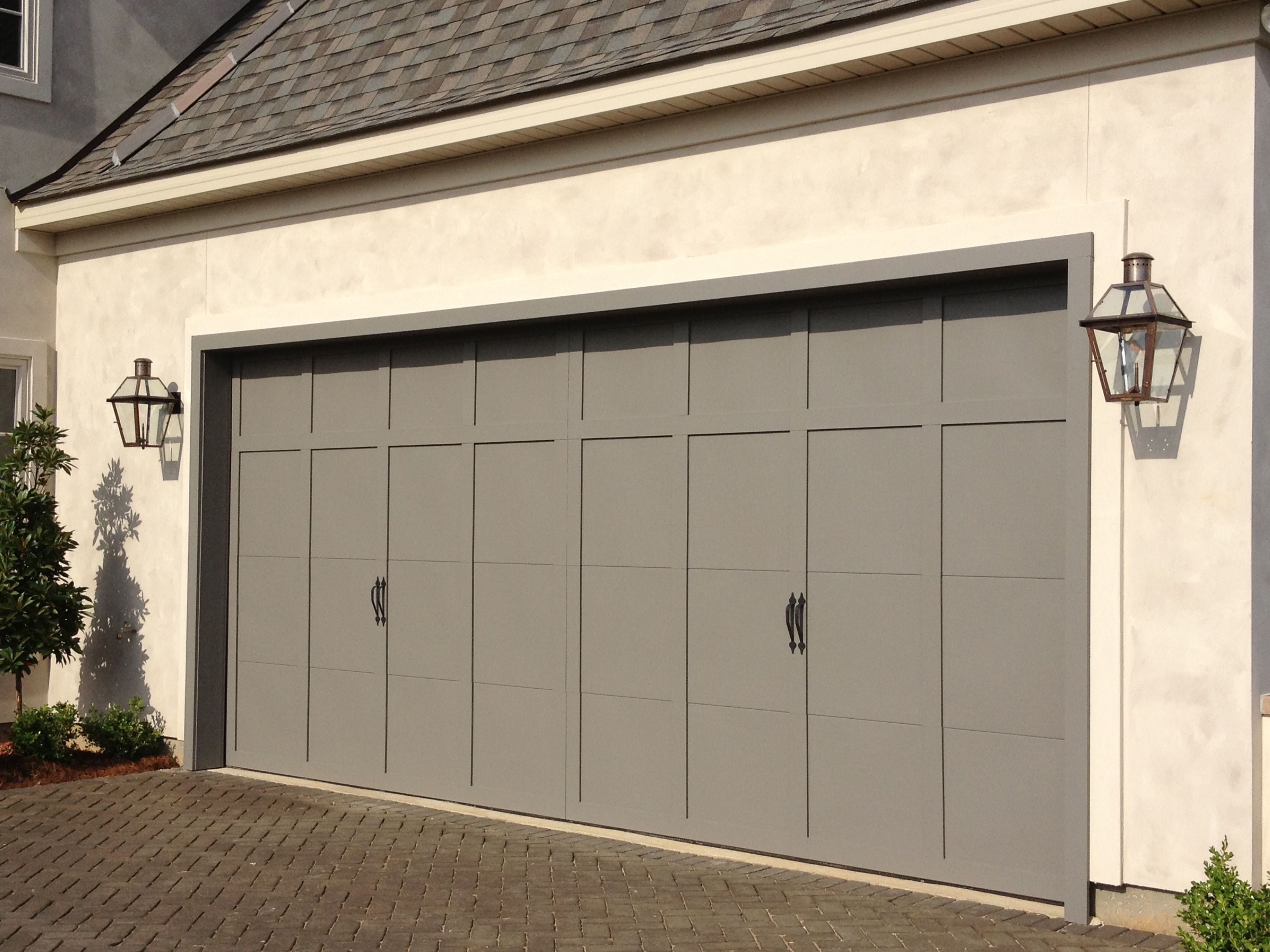 Pin By Bevolo On Exterior Lighting Garage Door Colors Garage Exterior Garage Doors