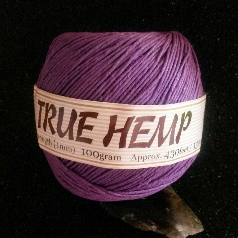 Purple hemp #hempjewlz #hemp #jewelry #coloredhemp #purple