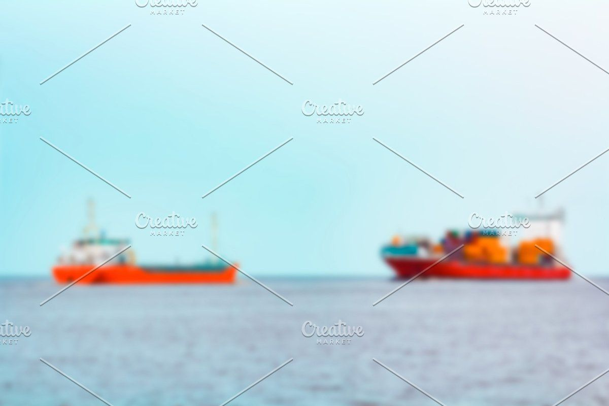 Photo of Red cargo ship – blurred image #Sponsored , #Sponsored, #ship#soft#Red#cargo
