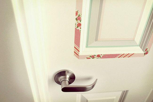 Buenas ideas para decorar tus puertas con washi tape decoesfera decoraci n e interiorismo Ideas para decorar con washi tape