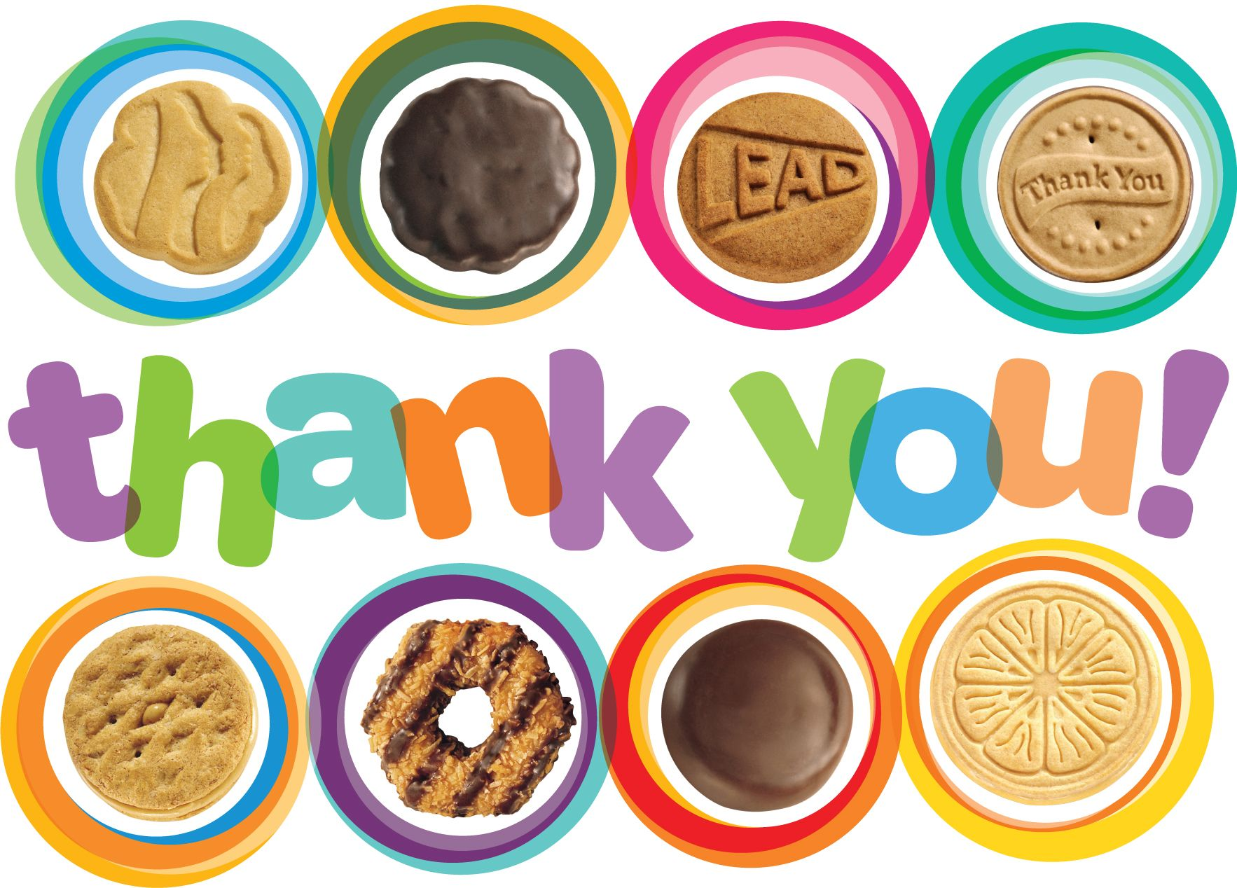 thank you cards girl scout cookies clip art clipart   free