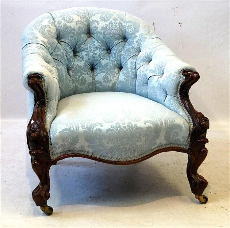 Buy Online, View Images And See Past Prices For A Good Quality Victorian  Carved Mahogany Show Wood Framed Low Armchair The. Invaluable Is The  Worldu0027s ...