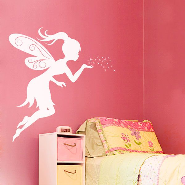 Genial Give A Little Girlu0027s Room Charm With This Fairy Kisses Wall Decal!