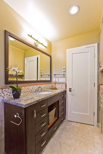 Narrow depth vanity design pictures remodel decor and - Narrow bathroom sinks and vanities ...