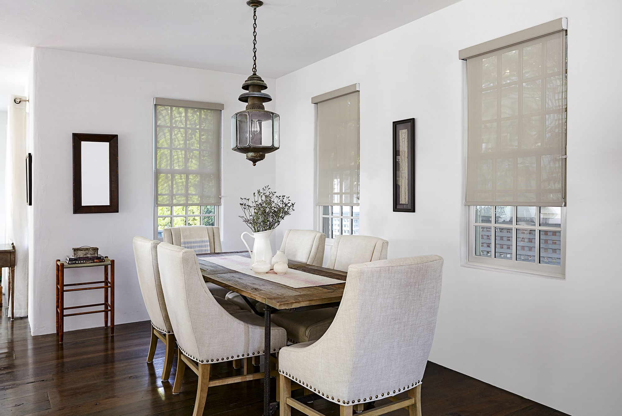Miami Solar Shade, in color Mocha, goes perfectly with this dining ...
