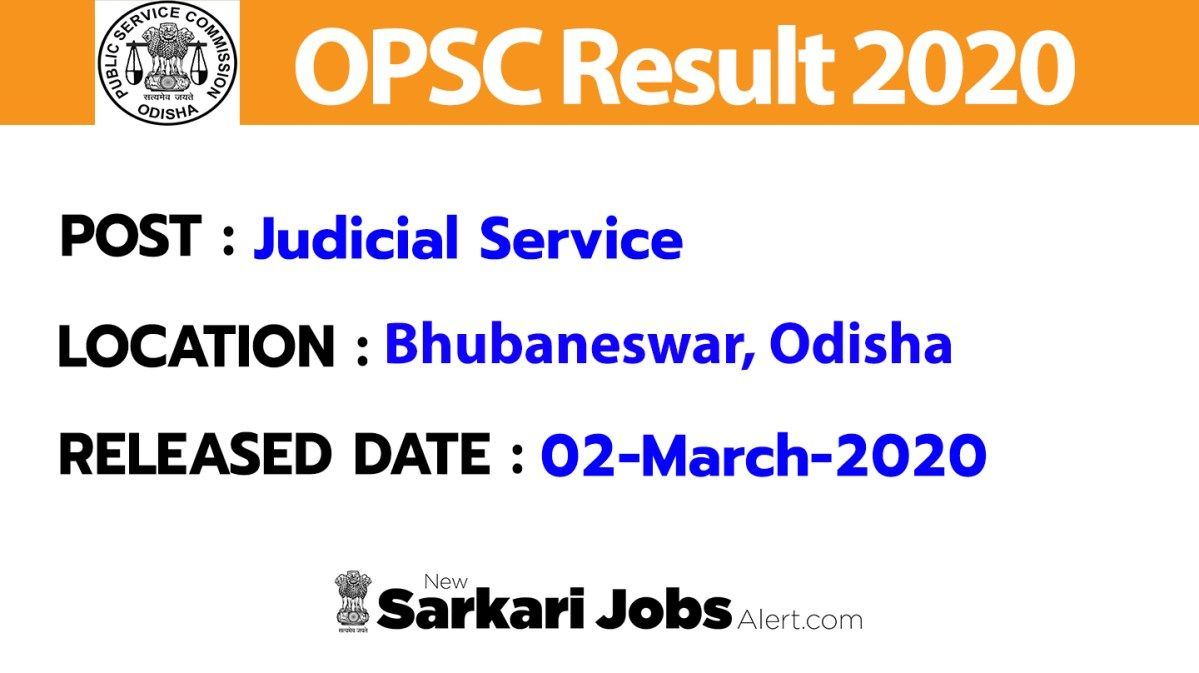 Opsc Result 2020 Odisha Judicial Service Exam Prelims Result Mains Exam Date Announced Judicial Exam Dating