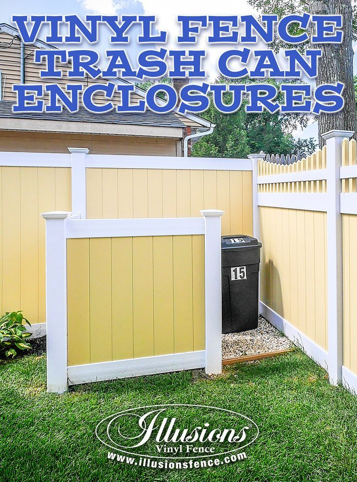 About Us In 2020 White Vinyl Fence Hide Trash Cans