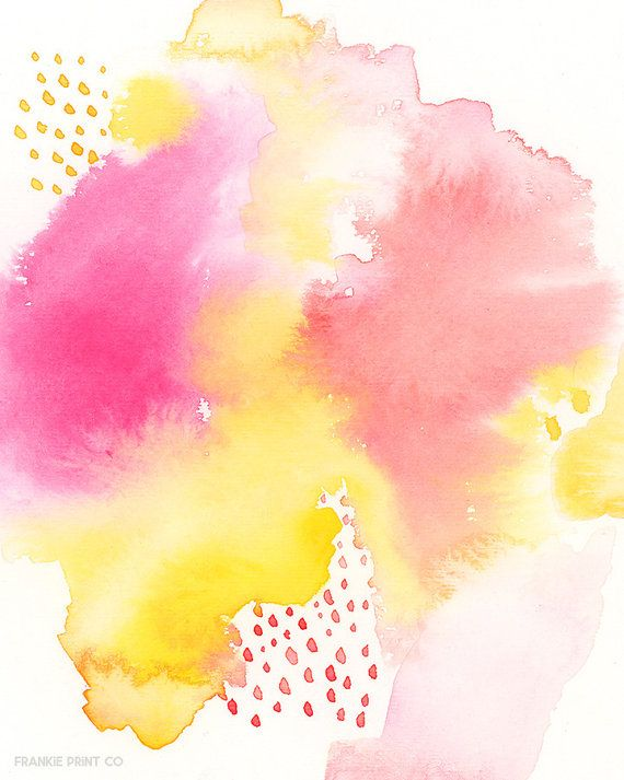 Watercolor Printable Pink Abstract Art Printable Nursery