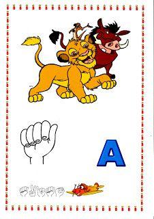 POR  AMOR: Alfabeto com tema do Timão e Pumba