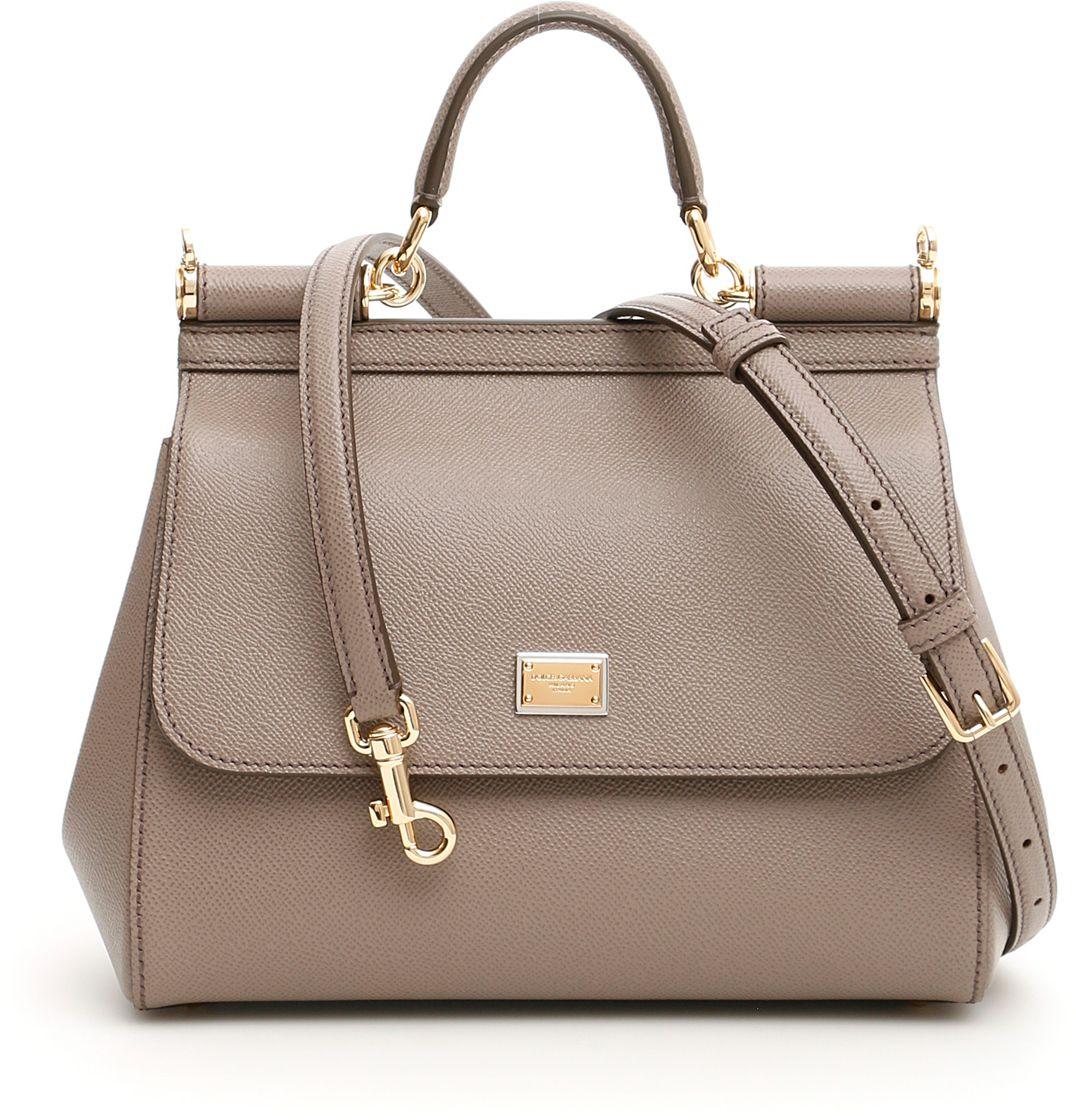 Geanta Dama Dolce   Gabbana Medium Sicily Bag FANGO CHIARO  euforiamall 34b38652351d2