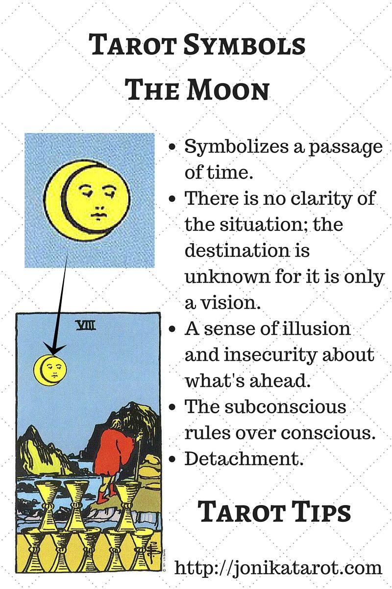 Symbols In Tarot Pinterest Tarot Symbols And Moon