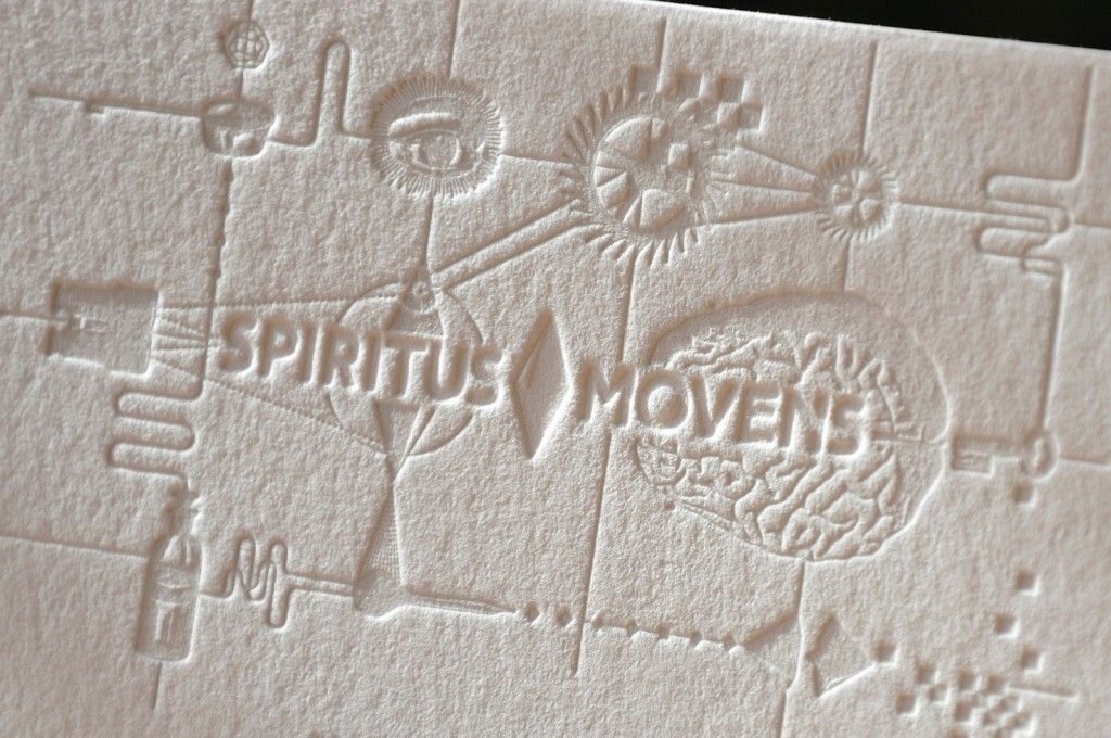 impression relief. Id 6572 - letterpress by letterart