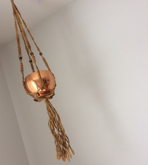 macrame plant hanger plant display hanging planter by madstonandco
