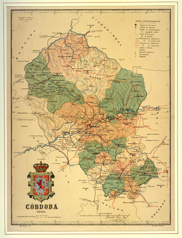 Mapa Provincia De Cordoba España.Provincia De Cordoba 1903 Mapas Cordoba Y Geografia