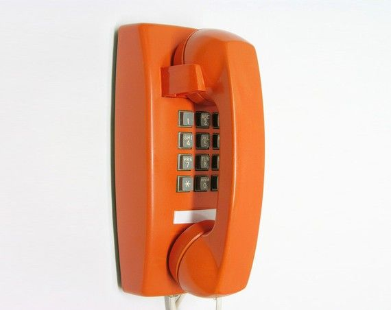 Sensational Vintage Telephone I Remember Retro Phone Orange Phone Download Free Architecture Designs Embacsunscenecom