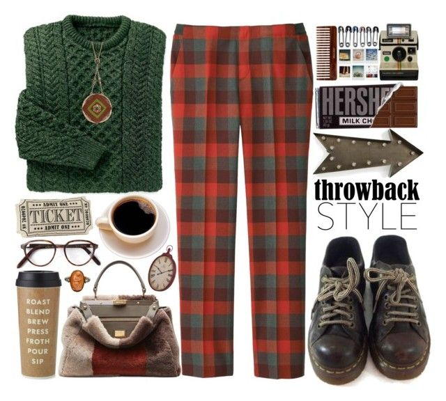 """""""Throwback style"""" by doga1 ❤ liked on Polyvore featuring moda, Dr. Martens, Uniqlo, Cutler and Gross, Fendi, Kate Spade, kalalou, The Sak e throwbackstyle"""