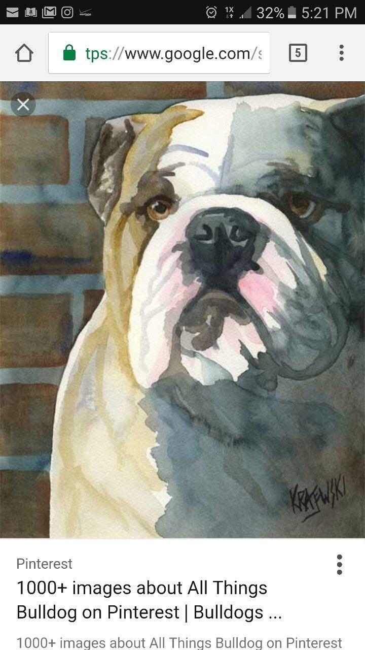 Pin De Aline Castro Em Bulld Gs Arte Animal Arte Para