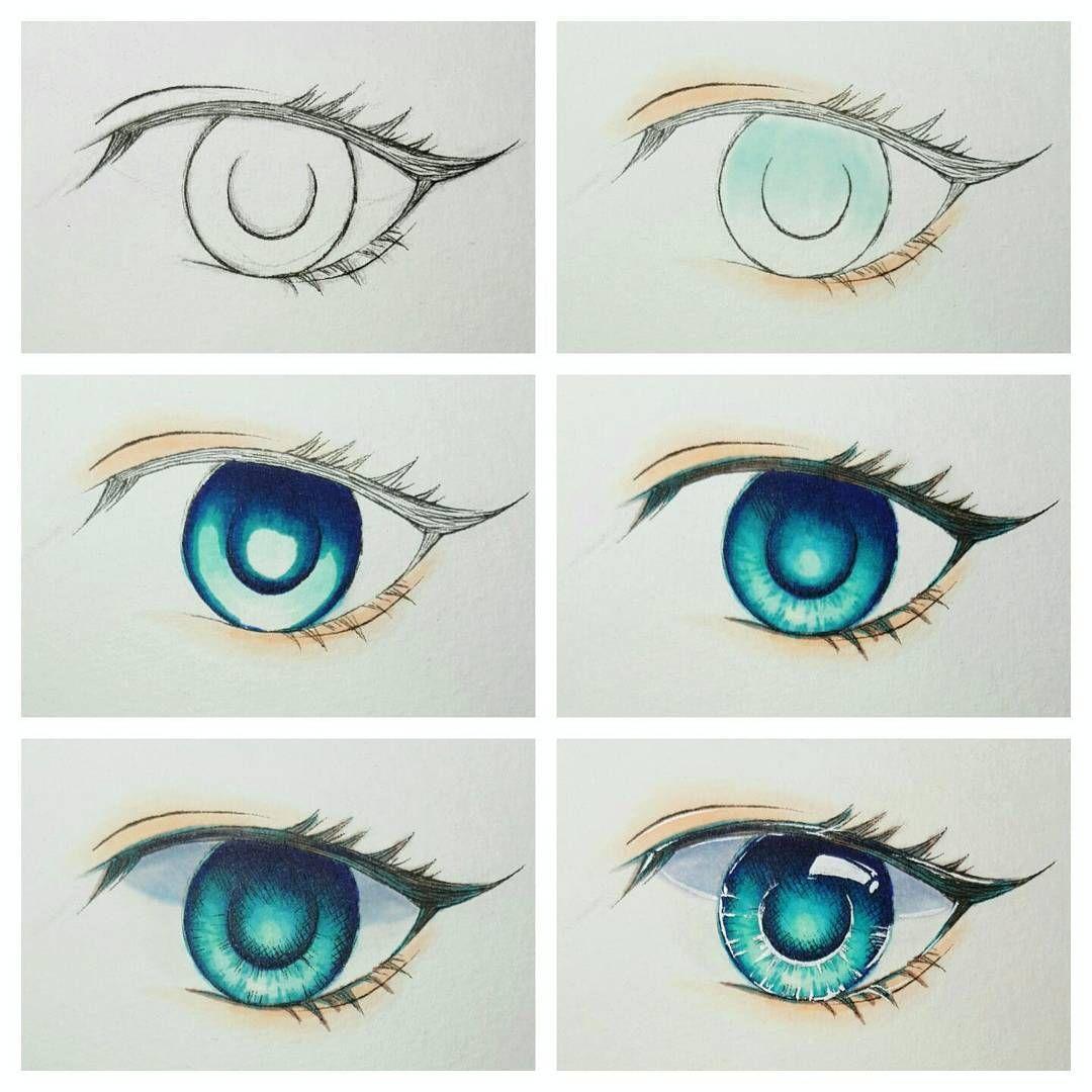 A little guide on how I colour an eye Hope you guys like