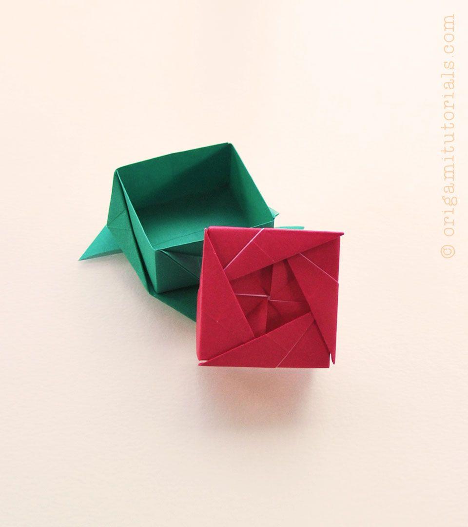 Origami Rose Box Ayako Kawate Origami Tutorials Origami Rose Box Origami Rose Origami