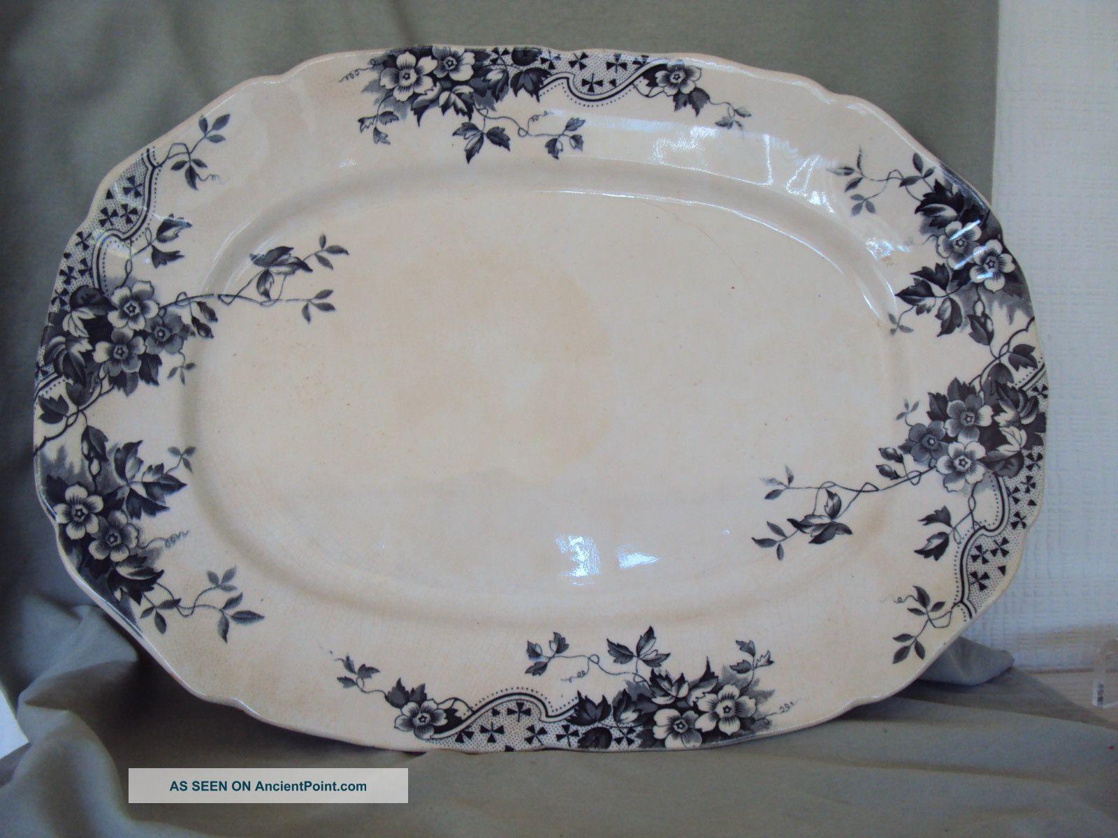 sandon cliff england pottery large serving platter anemones serving platters platters pottery sandon cliff england pottery large