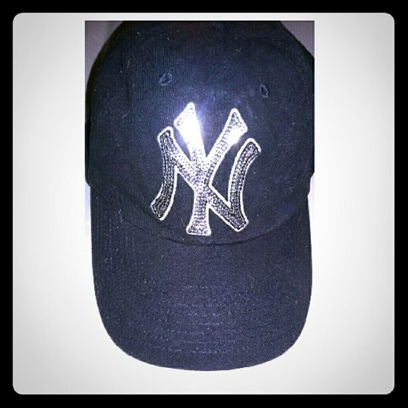 077e8a4acb8 Pink by Victoria Secret Yankee cap New York Yankees sequin logo Yankee cap.  Adjustable in the back and very soft