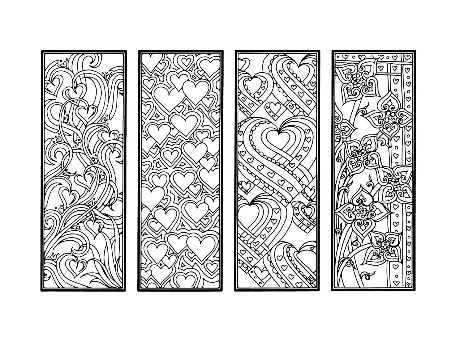 Bookmarks Coloring Pages Designs Collections