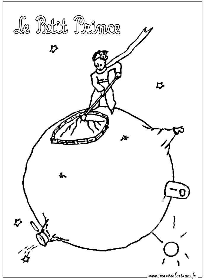 Le Petit Prince A Imprimer Et A Colorier Sur Sa Planete