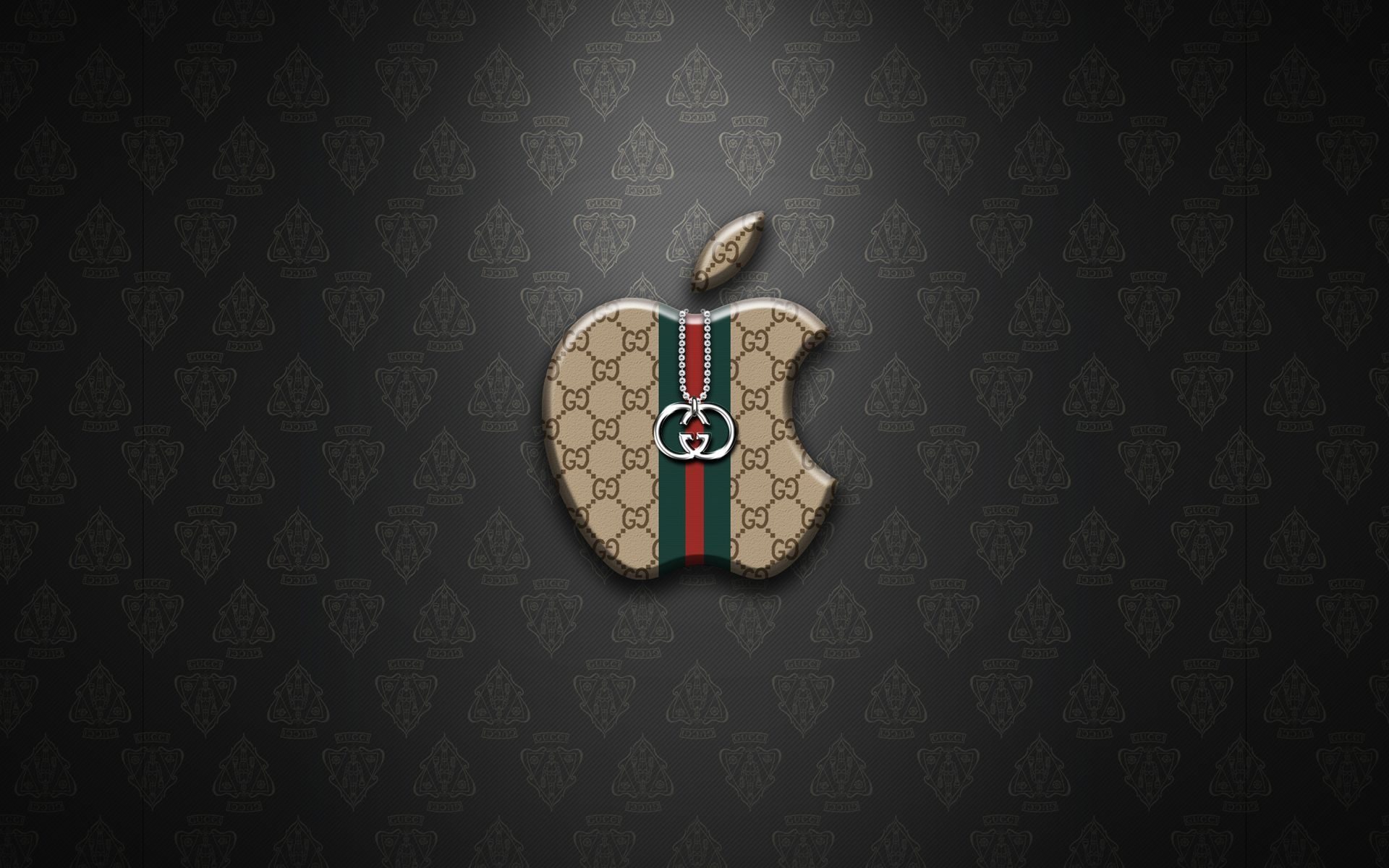 Background download gucci logo apple 1920x1200. Fondos