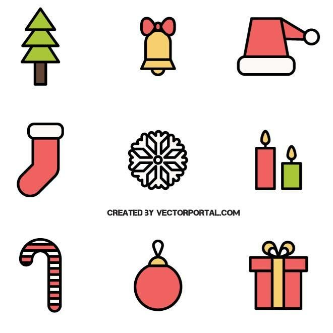 vector icons for christmas