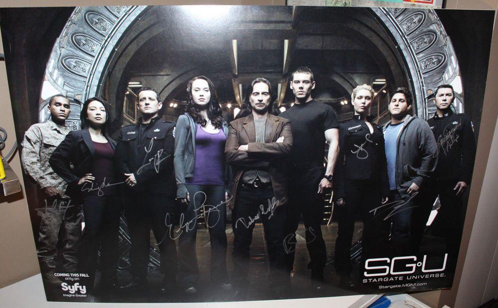 Stargate Universe Sgu Signed Autograph Cast Promo Poster Mounted Foamboard 27x40 Ebay Stargate Universe Stargate Stargate Atlantis