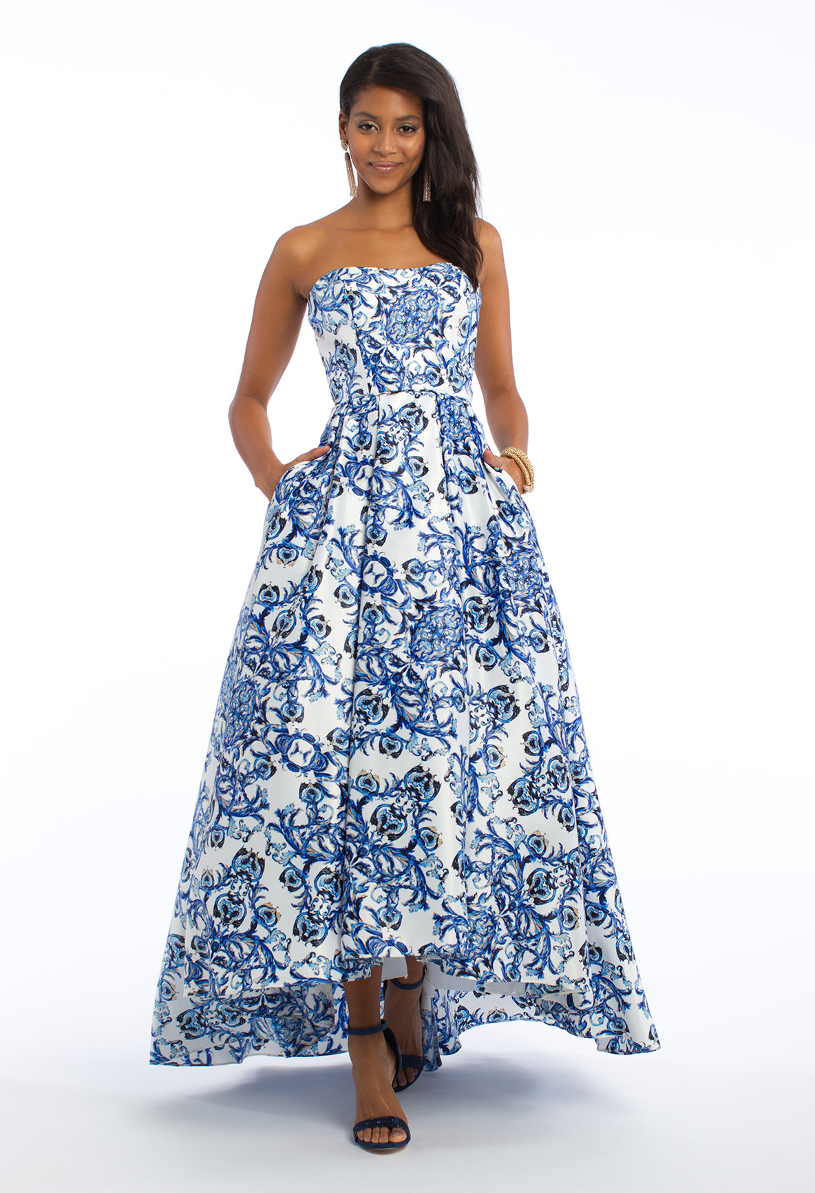 Float on by in this aline prom dress the strapless neckline