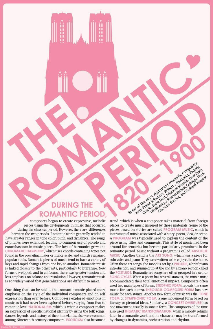 The Romantic Period 1820 to 1900  |  This is my favorite Music period!