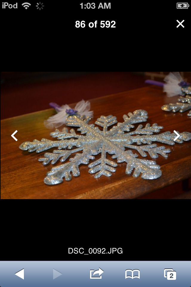 Decided to do something different and make snowflake bouquets for the girls :)