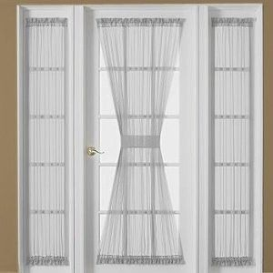 Front Door Small Window Curtain For Privacy Door Curtains