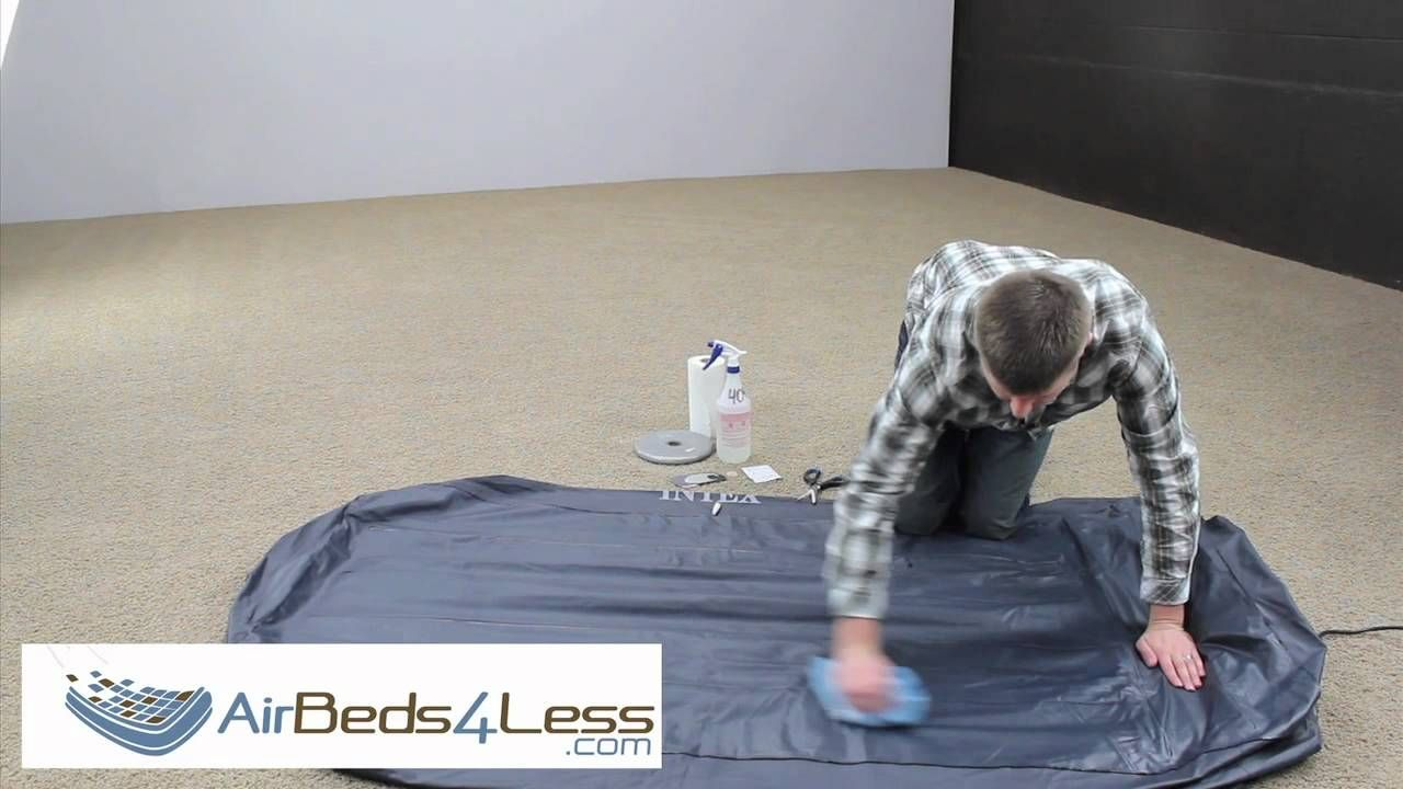 How To Find A Leak And Patch An Air Bed Mattress Correctly Air Mattress Repair Air Mattress Mattress