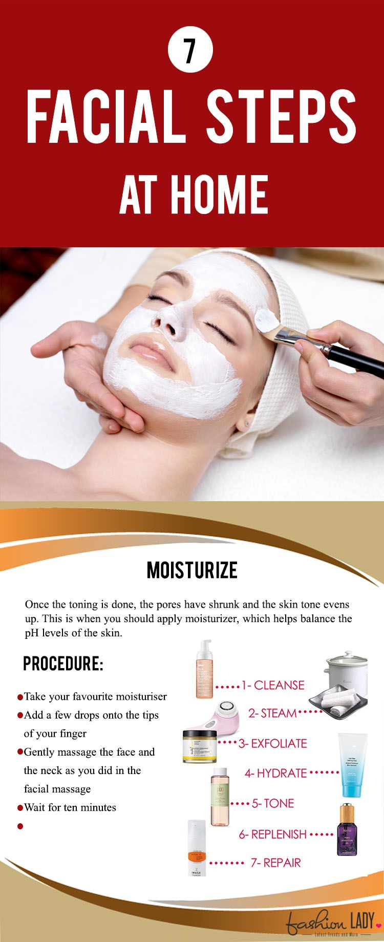 9 Facial Steps At Home  Facial steps at home, Facial tips, How to