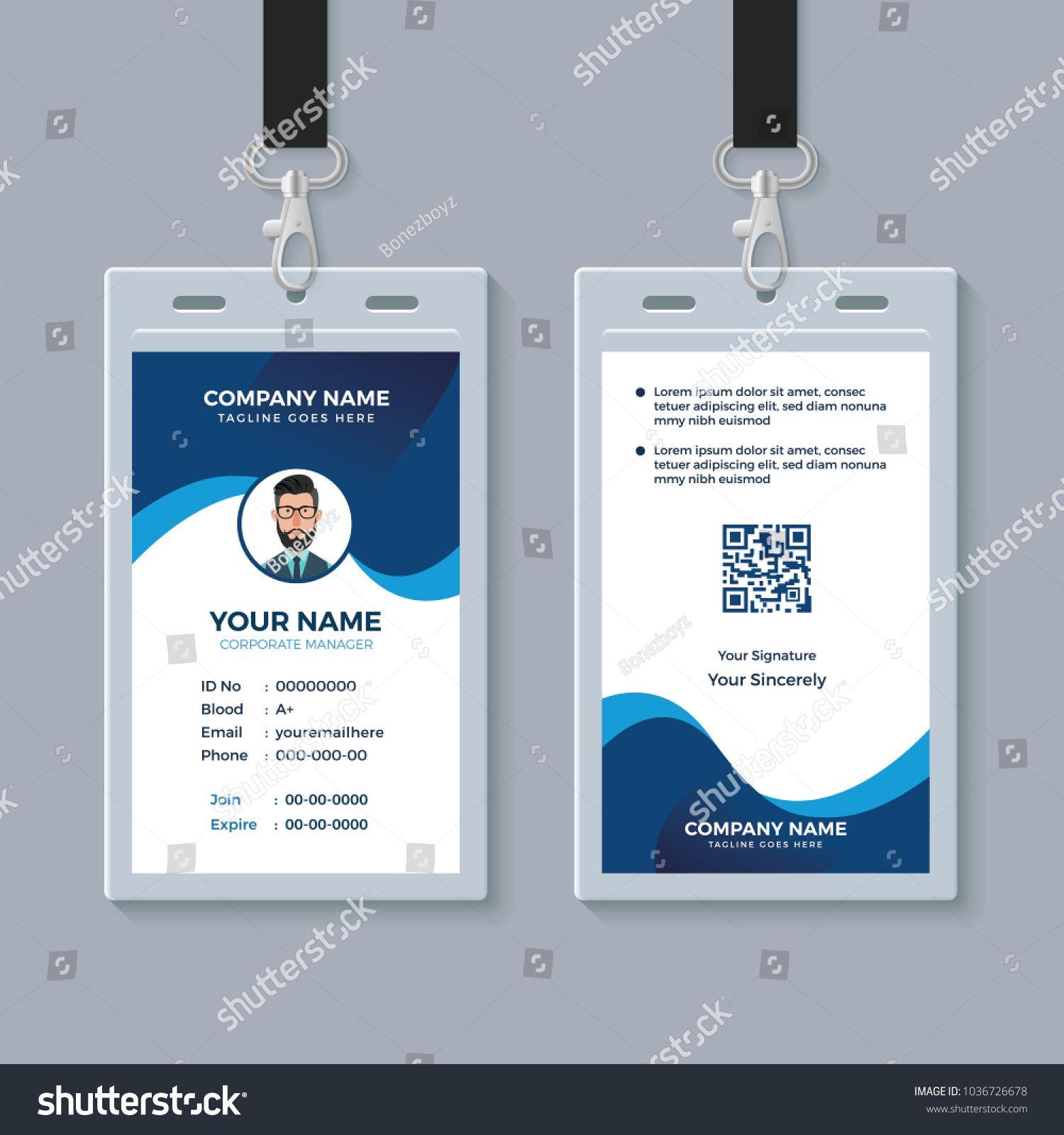 Modern Clean Id Card Template Clean Modern Id Template Id Card Template Card Template Templates