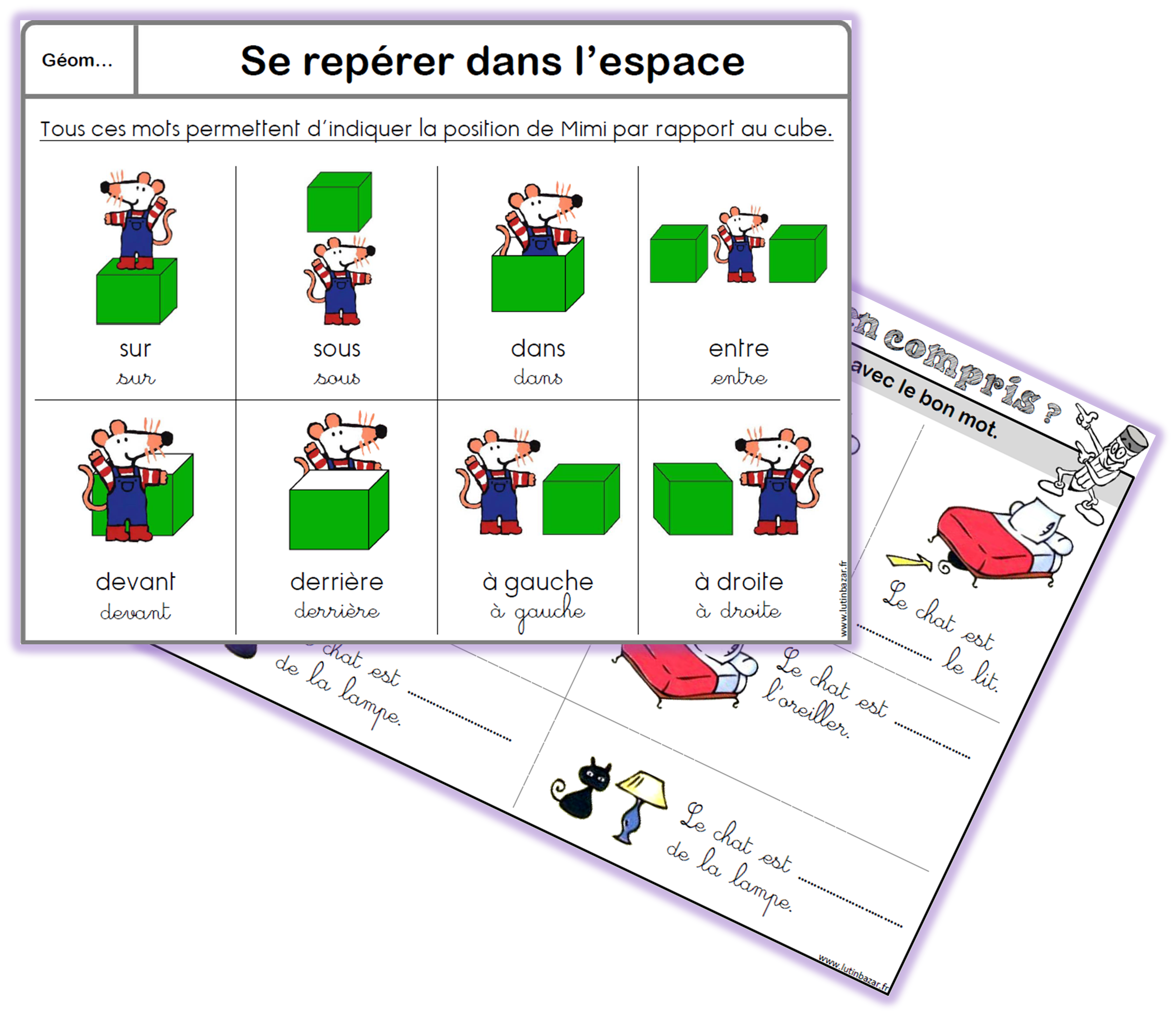 structuration spatiale maternelle exercices