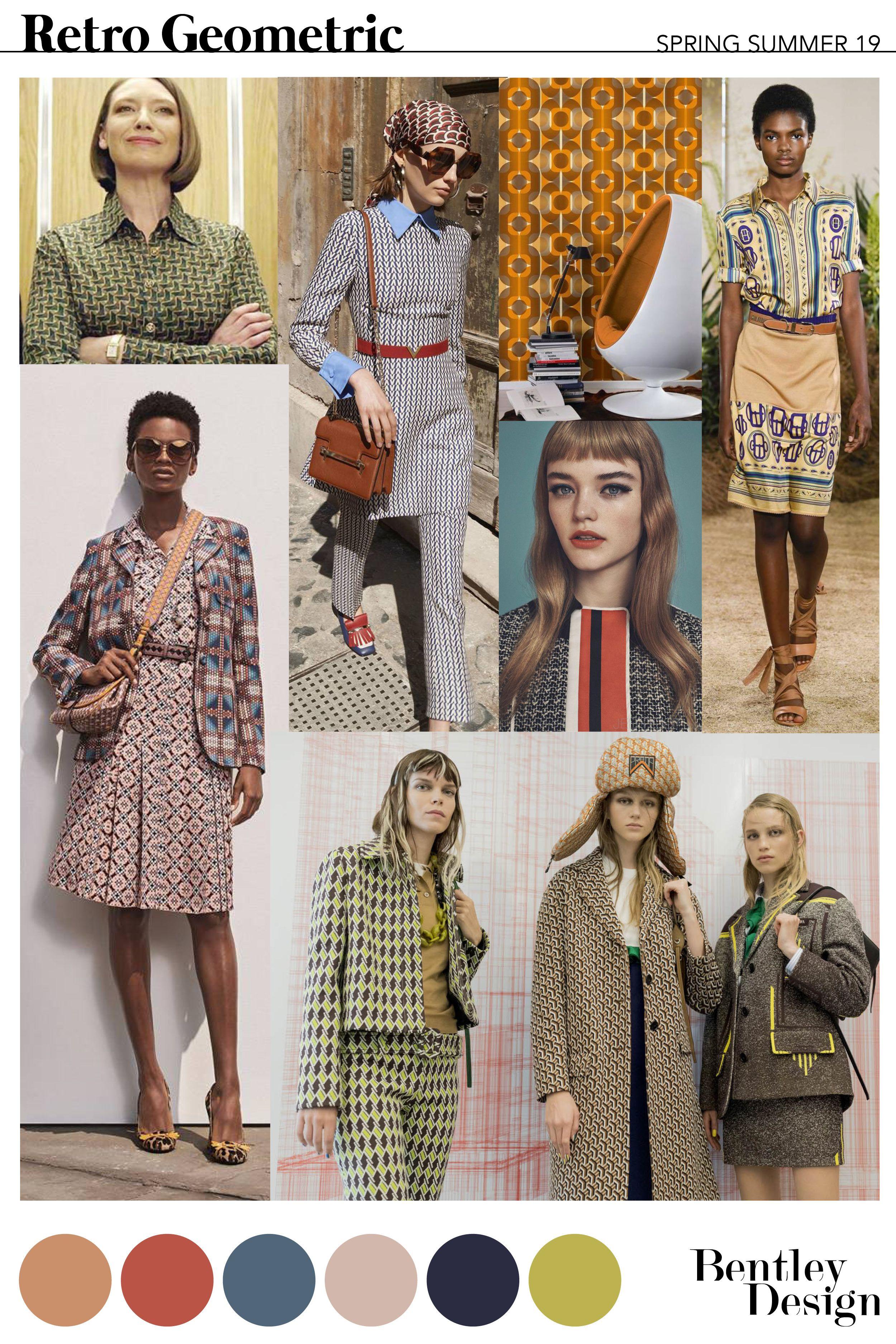 Freelance Fashion Designer Ss19 Retro Geometric Fashion Trend