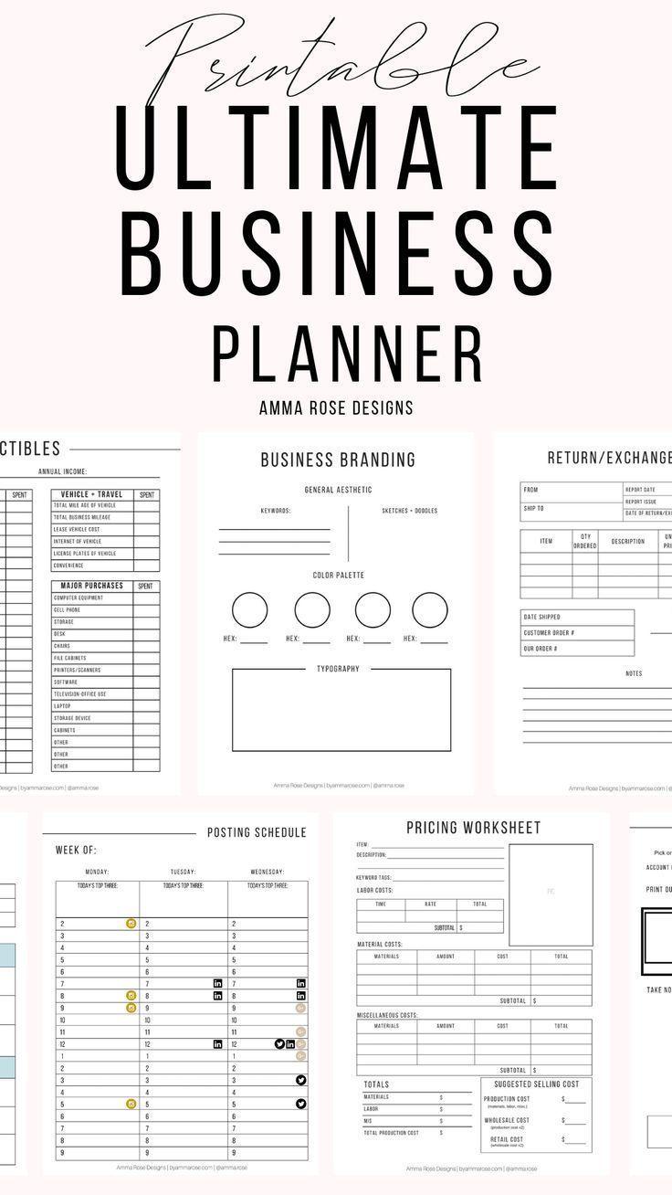 Business Planner Printable | Business Planner PDF