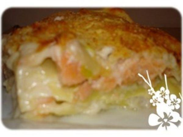 Lasagnes au saumon-poireaux WW