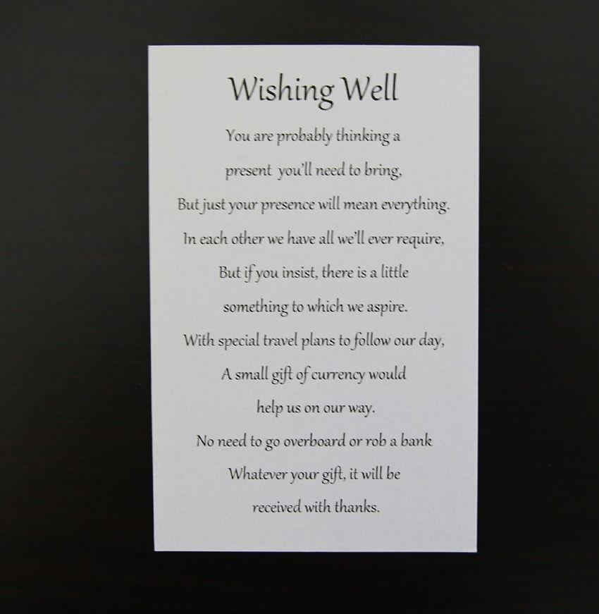 Sample Invitation Wishing Well Wording Wishing Well Poems