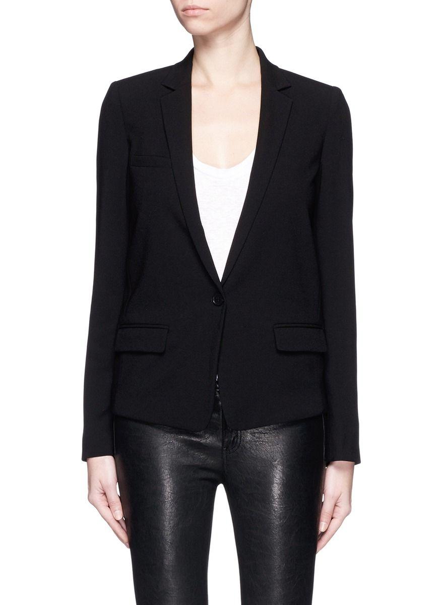 ISABEL MARANT Notched Lapel Crepe Suit Jacket. #isabelmarant #cloth #jacket
