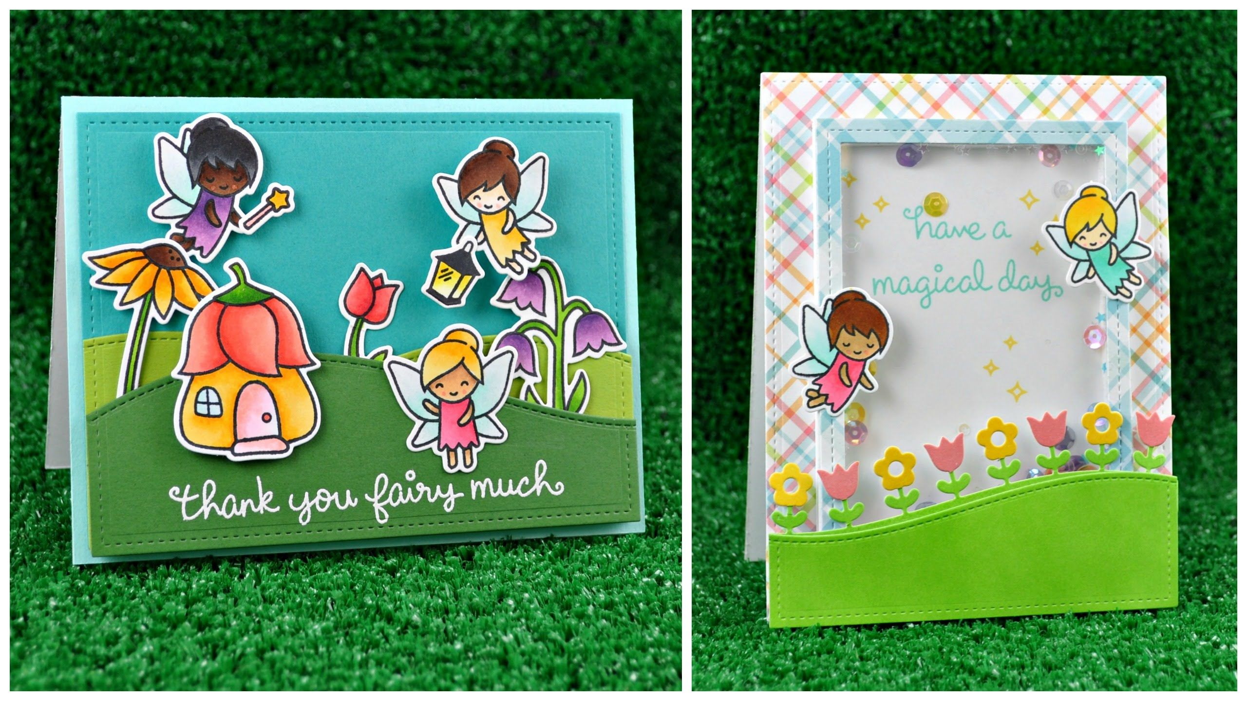 Intro to Fairy Friends + a card and shaker card from start to finish