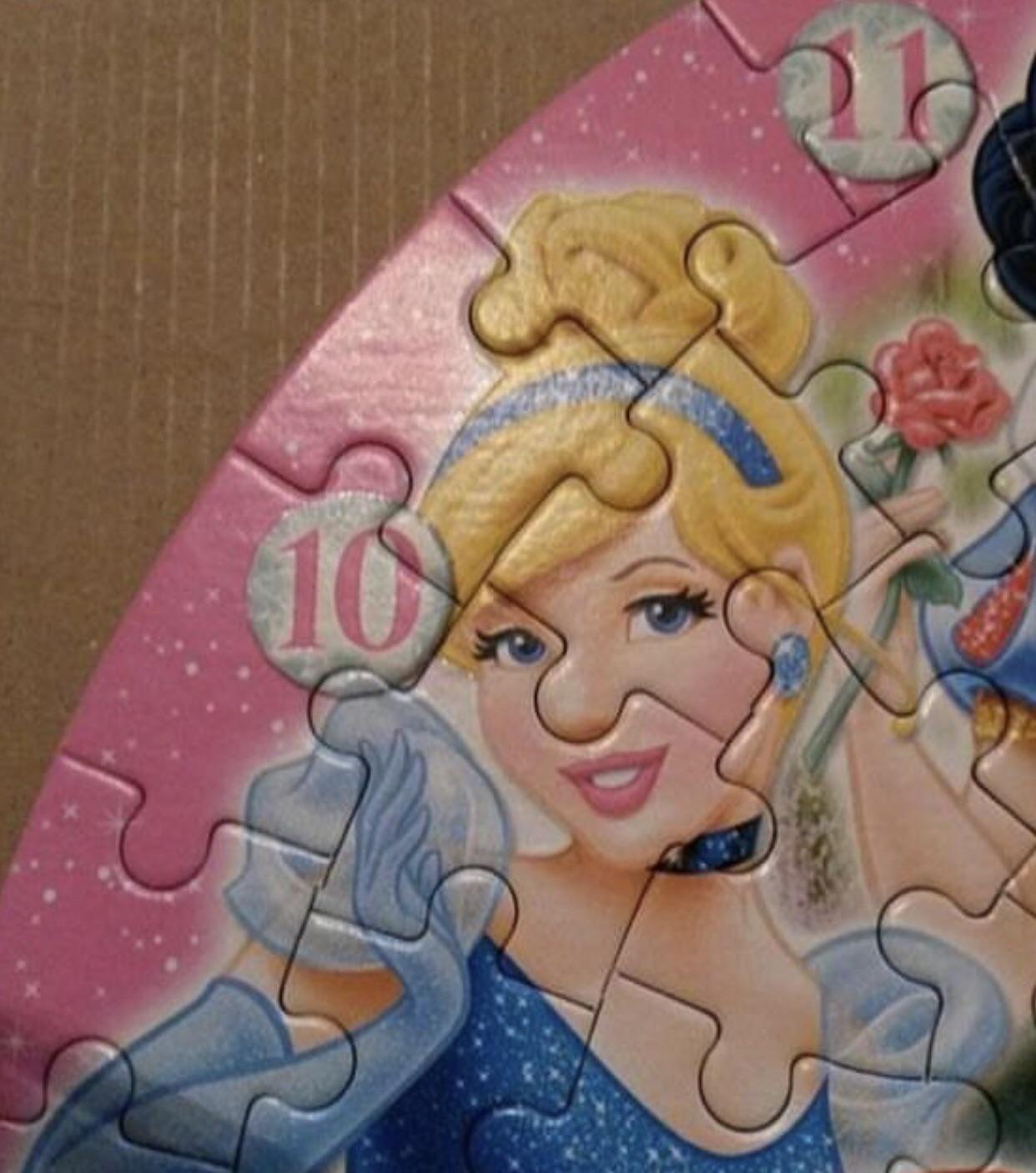 Cinderellas nose on this disney princesses puzzle disney